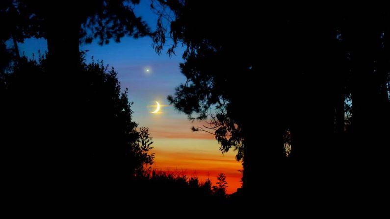 La Luna y Venus, en el cielo de Malpica - El Blog de Manu